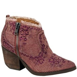 Naughty Monkey Sewn Up Embroidered Ankle Boots 10